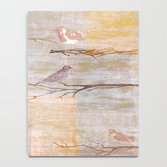 Golden Pink Birds Notebook