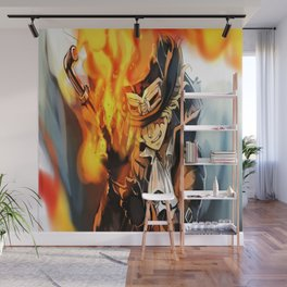the power of fire on sabo Wall Mural