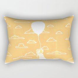 Cloudy Balloon Rectangular Pillow