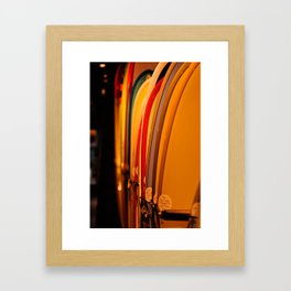 The Surfboard Line Up - Oahu, Hawaii Framed Art Print