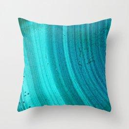 Turquoise Halos Throw Pillow