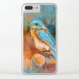 A Splash Of Bluebird Clear iPhone Case