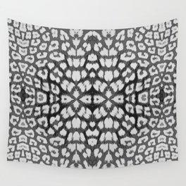 Leopard Print - Grey Wall Tapestry