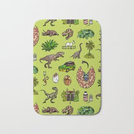 Jurassic pattern lighter Bath Mat