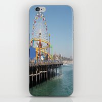 santa monica iPhone & iPod Skins featuring santa monica by vida é muerte