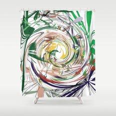 eye of hurricane Shower Curtain