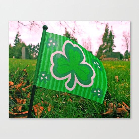 Shamrock flag Canvas Print