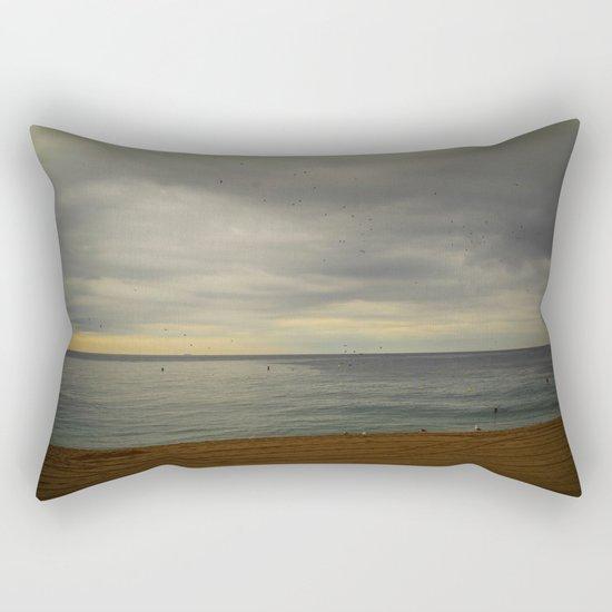 Barcelona beach Rectangular Pillow