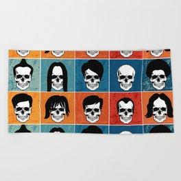 Hairstyles for Skulls Beach Towel