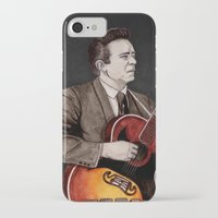 johnny cash iPhone & iPod Cases featuring Johnny Cash by Daniel Cash
