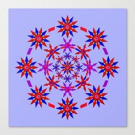 Shuriken Lotus Flower v3 Canvas Print