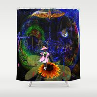 pocket fuel Shower Curtains featuring Fuel by Joseph Mosley