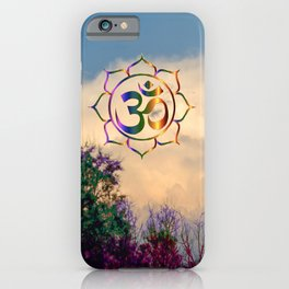 Trees Clouds Om iPhone Case
