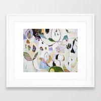 "flora bowley Framed Art Prints featuring ""Letting Go"" Original Painting by Flora Bowley by Flora Bowley"
