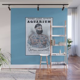 Captain Costentenus, tattoed from head to foot Poster Wall Mural