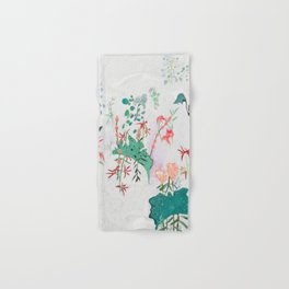 Abstract Jungle Floral on Pink and White Hand & Bath Towel