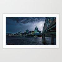Lightning Strikes Art Print