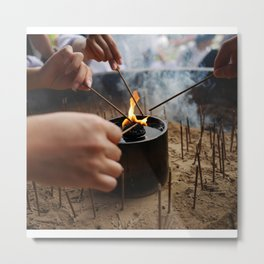Burning at Nara Metal Print