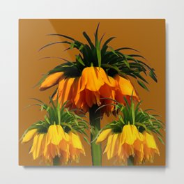 CARAMEL COLOR YELLOW CROWN IMPERIAL FLOWERS Metal Print