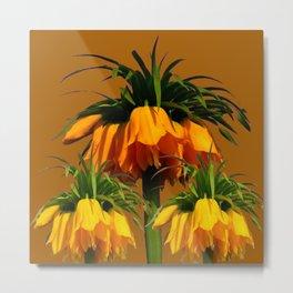 CARAMEL COLOR YELLOW CROWN IMPERIAL FLOWERS Metal Print