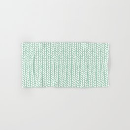 Knit Wave Mint Hand & Bath Towel