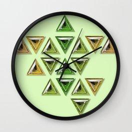 Earth Tones Gradient Trillion Gemstones Wall Clock