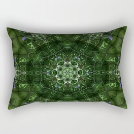Watery Orbitals Mandala 2 Rectangular Pillow