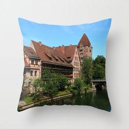 At The Pregnitz - Nuremberg Throw Pillow