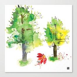Summer Trees Umbrella Walk Canvas Print