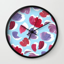 Blooming Painterly Wall Clock