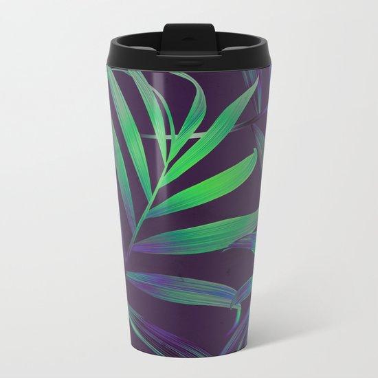 Tropical Leaves Vibes Metal Travel Mug