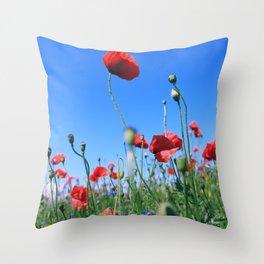 poppy flower no17 Throw Pillow