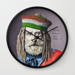 A pop-contemporary reworking of famous portraits Wall Clock