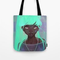 loish Tote Bags featuring lumen by loish