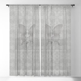 Silver Leaf Fairy Sheer Curtain