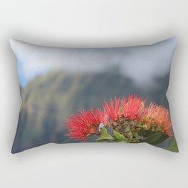 Lehua ʻUlaʻula o Kalalau Rectangular Pillow