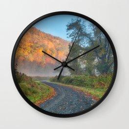 Misty Autumn McDade Trail Wall Clock
