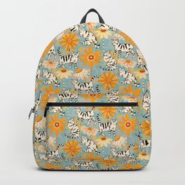 Daisy Cats - Baby Blue Backpack