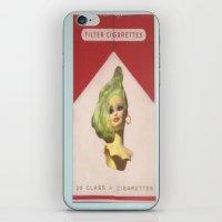 cigarette iPhone & iPod Skins featuring Cigarette Barbie by Hayleydonovan