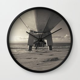 Morning Sea Pier Wall Clock