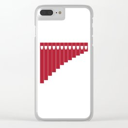 Pan Pipes Silhgouette Drawing Clear iPhone Case