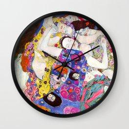 """Gustav Klimt """"Die Jungfrauen (The Virgins)"""" Wall Clock"""