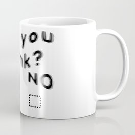 Are You Drunk Test For Partygoers Black Text Coffee Mug