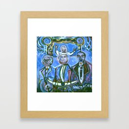 Huey Nick and I... Under the Pope Smiling Framed Art Print
