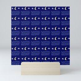 Moon and star 2 Mini Art Print