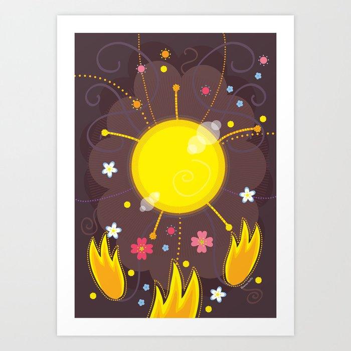 Willow Sun Art Print