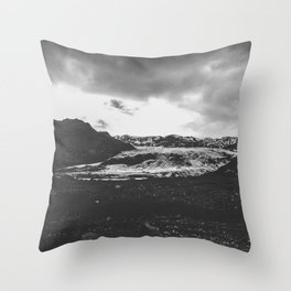 Ice giant - black and white landscape photography Throw Pillow
