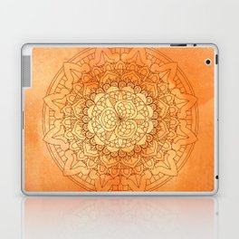 Watercolor Mandala Pattern Orange Laptop & iPad Skin