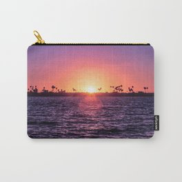 Mission Bay Palm Tree Sunset in San Diego, California Carry-All Pouch