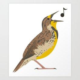 Meadowlark! Art Print